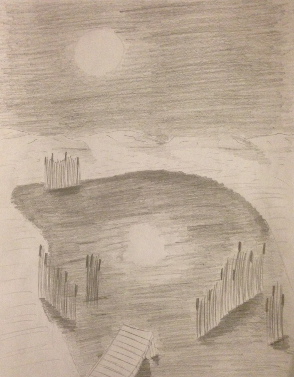 Drawing No. 12 – Moonlight on the Pond