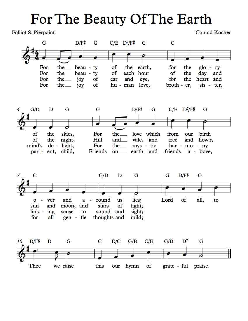 Hymn chords for