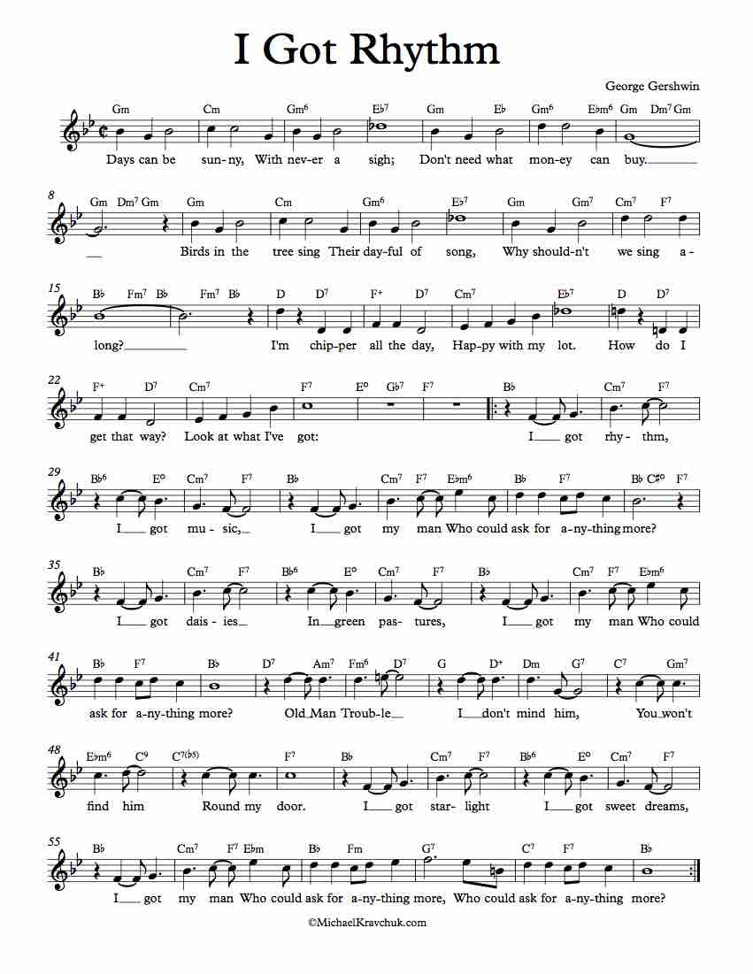 Worksheets Music Rhythm Worksheets free lead sheet ive got rhythm rhythm