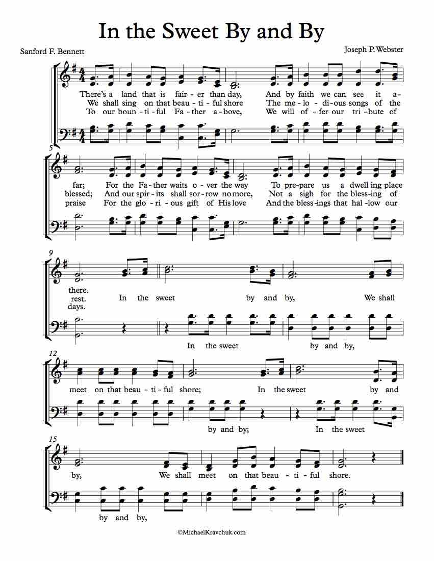 Free Choir Sheet Music - In The Sweet By And By