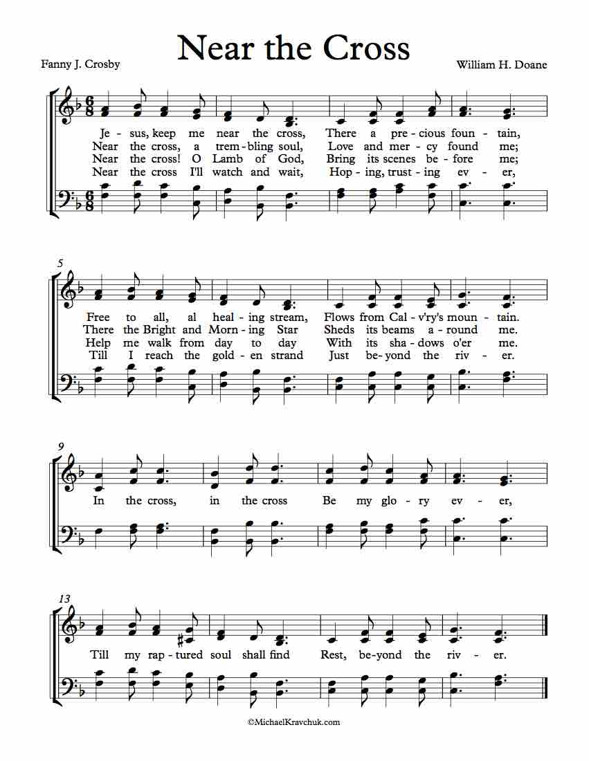Free Choir Sheet Music - Near The Cross