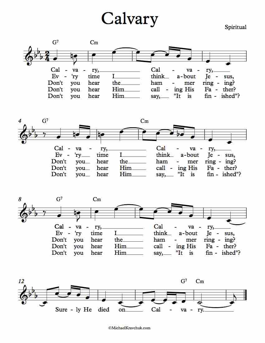 Free Lead Sheet - Calvary