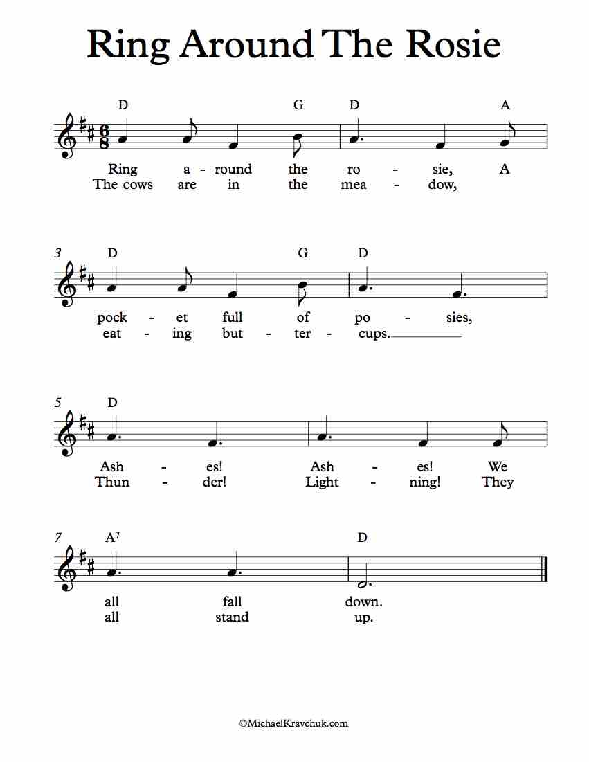 Free Lead Sheet - Ring Around The Rosie