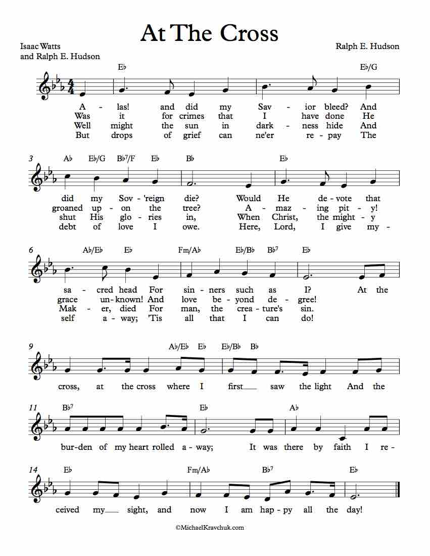 Free Lead Sheet - At The Cross