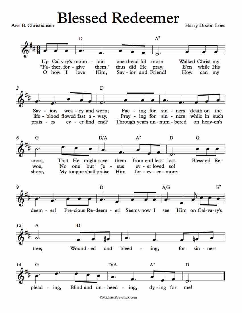 Free Lead Sheet - Blessed Redeemer