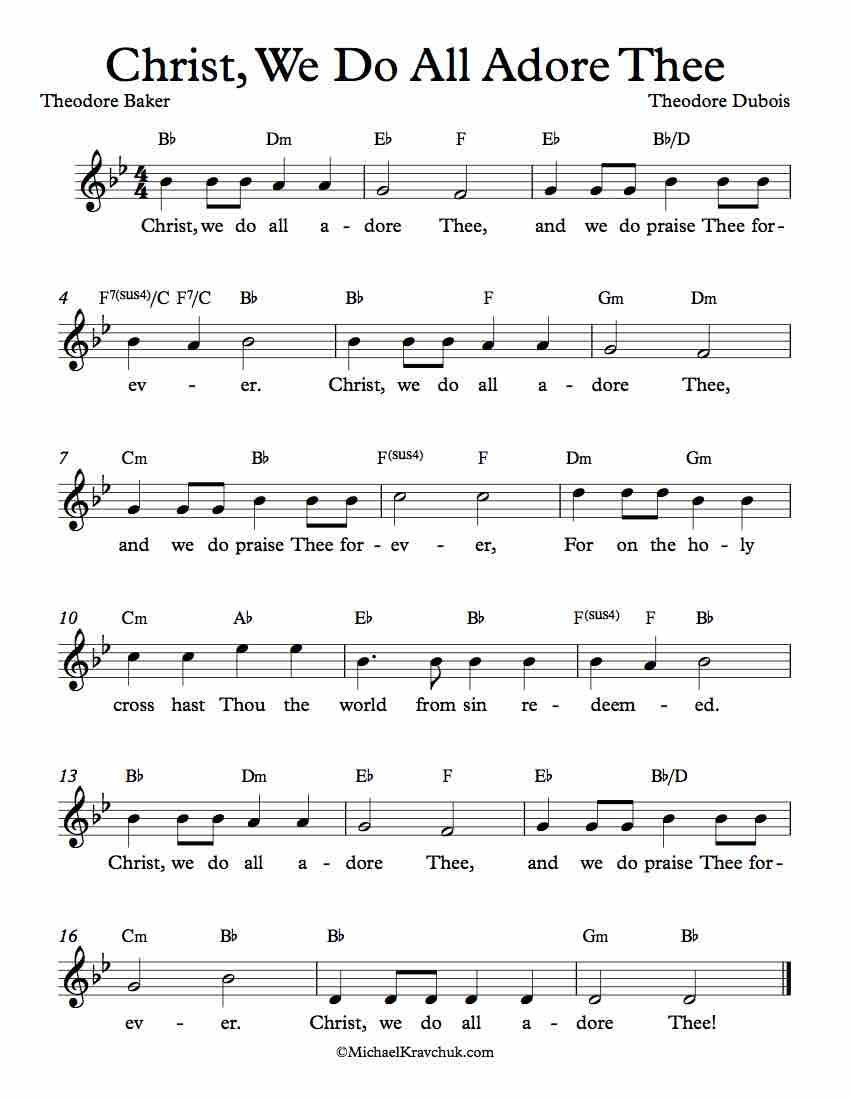 Free Lead Sheet - Christ, We Do All Adore Thee