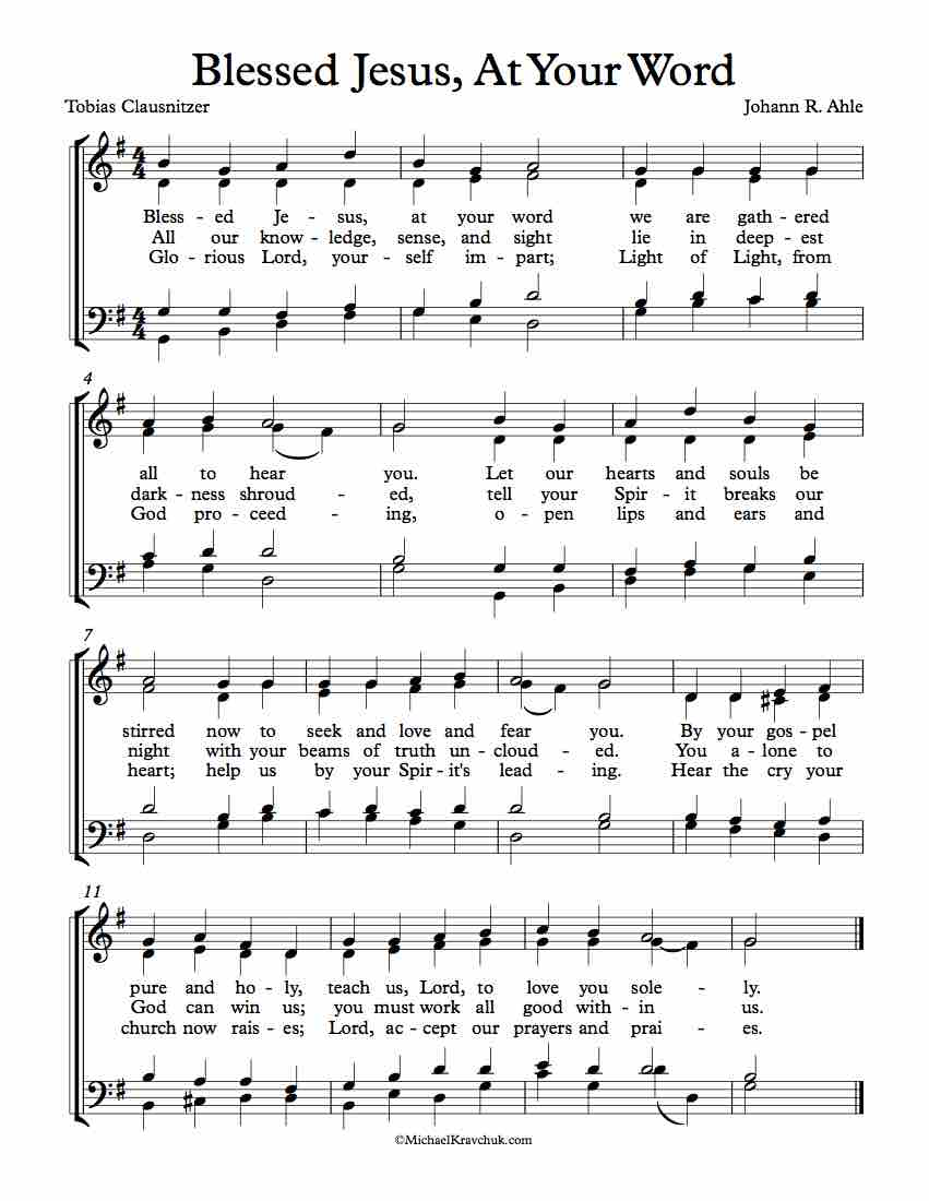 thy word sheet music pdf