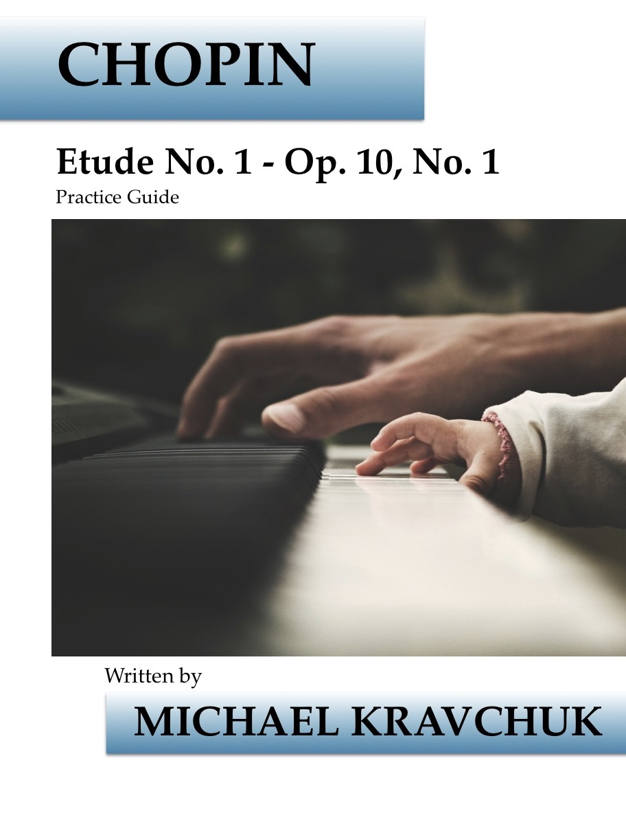 Chopin - Etude No. 1 - Op. 10, No. 1 Practice Guide Book Cover 12x18