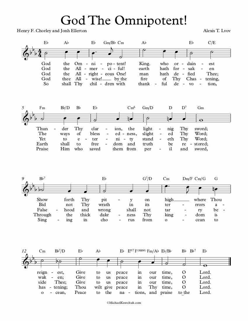 Free Lead Sheet – God The Omnipotent!