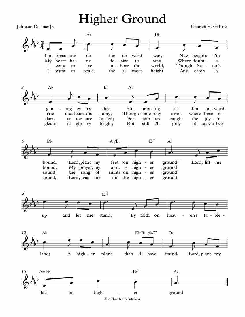 Free Lead Sheet - Higher Ground