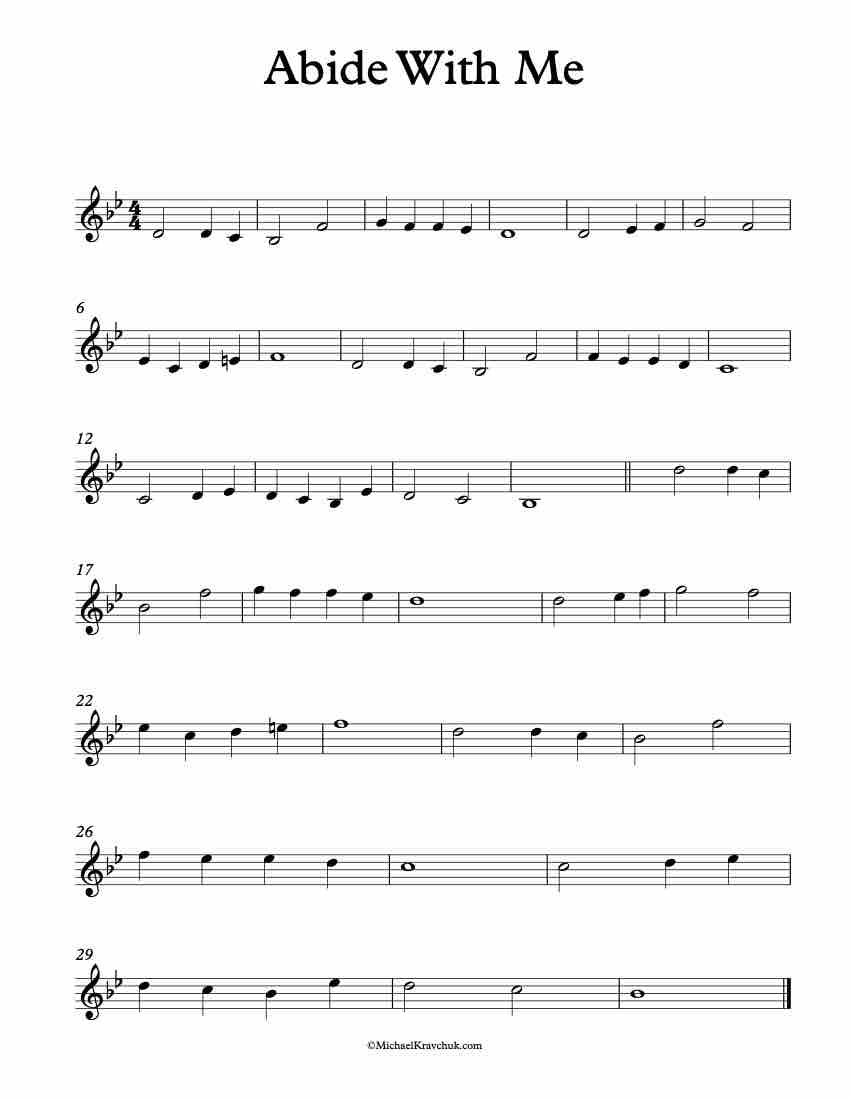 Abide With Me Trumpet Sheet Music